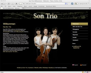 Son Trio - die neue Website