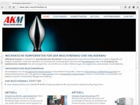 Responsive Webdesign für AKM Maschinenbau mit WordPress