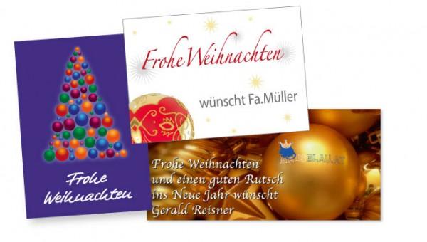 Weihnachtskarten von Mausblau