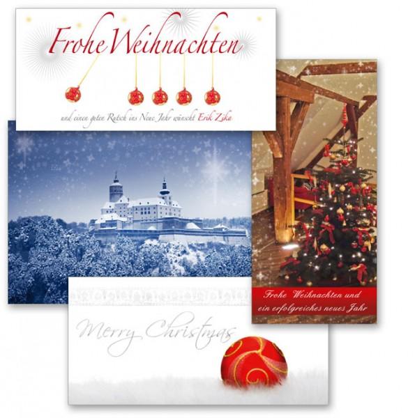 Weihnachtskarten von Mausblau.at