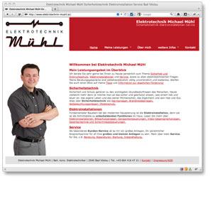 Neue Homepage für Elektrotechnik Michael Mühl