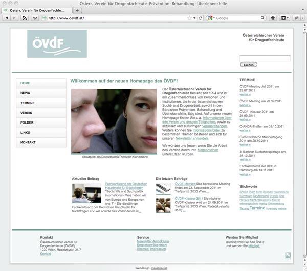 Die neue Homepage von Mausblau.at für den ÖVDF