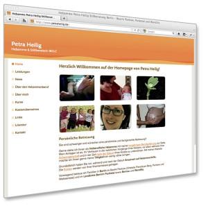 Petra Heilig, Hebamme: Webdesign von Mausblau,at