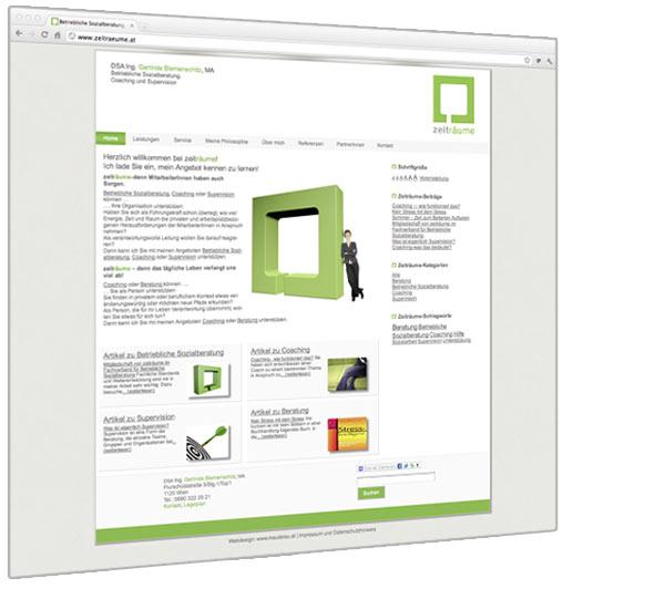 Neue Homepage für zeitraeume.at