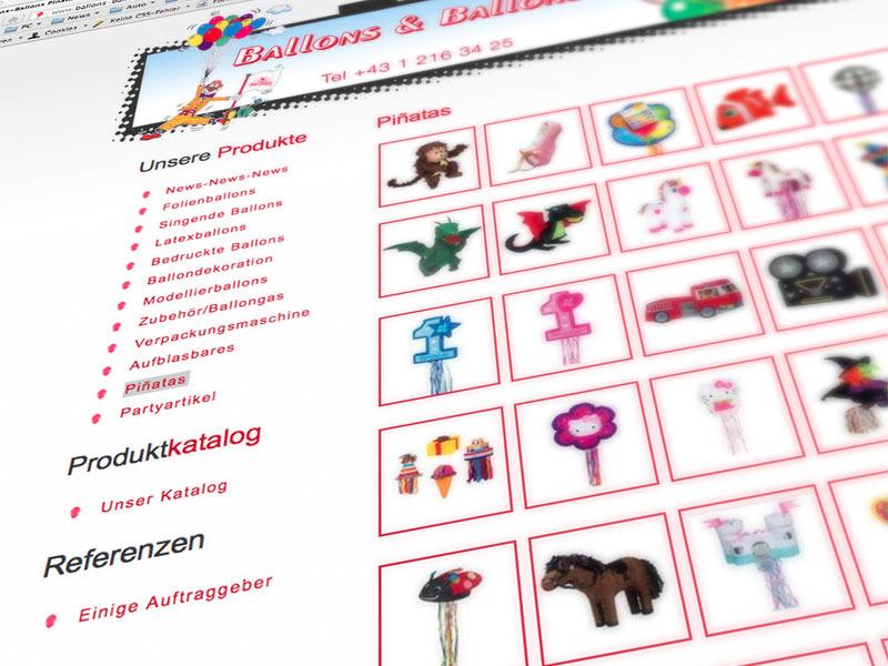 Mausblau Webdesign Pinatas Ballons Ballons