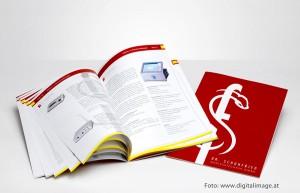 Ein Katalog für Schuhfried Medizintechnik; Grafik und Layout: Mausblau.at