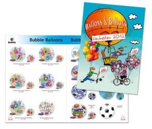 Katalogdruck für Ballons und Ballons von Mausblau