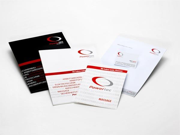 Drucksorten mit einheitlichem Corporate Design von Mausblau