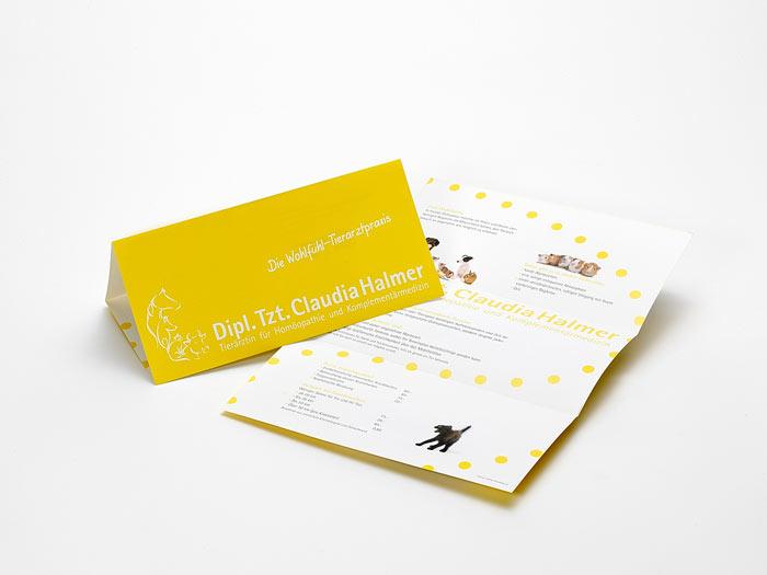 Folder: Layout bzw. Gestaltung von Mausblau, Wien und Burgenland