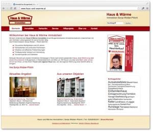 Neue Homepage für Burgenland Immobilien Haus und Wärme mit WordPress