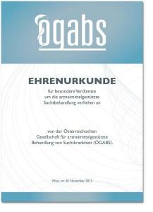 Urkunde mit Grafik-Design Burgenland, Mausblau