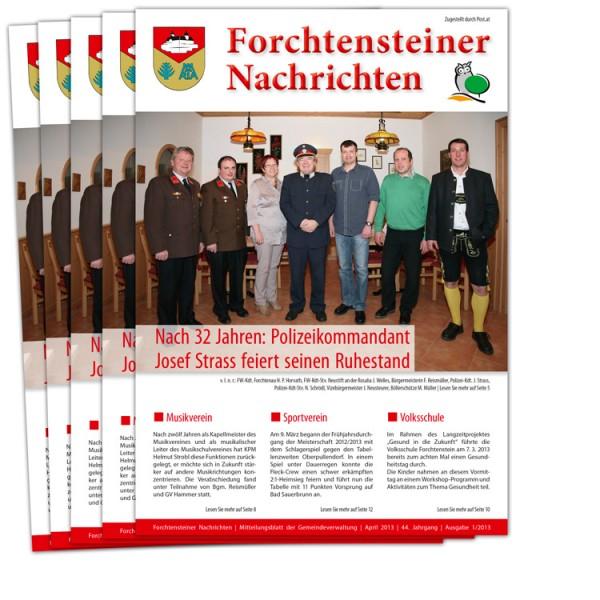 Layout Gemeindezeitung Forchtenstein