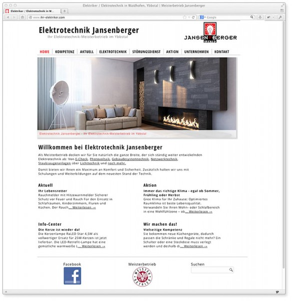 Webdesign: Eine WordPress Homepage für einen Elektriker
