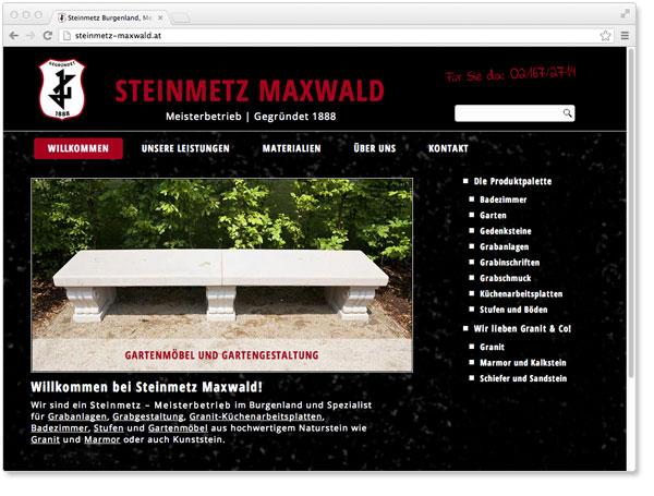 Webdesign für Steinmetz im Burgenland