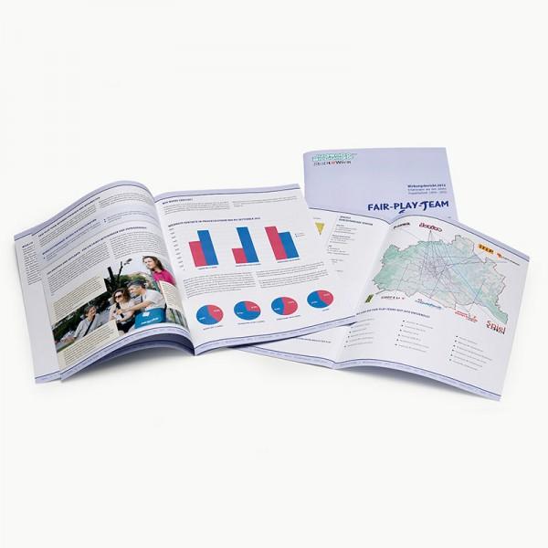 Layout und Grafik für den Bericht der MA 13