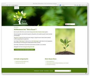 Webdesign für Mein Baum