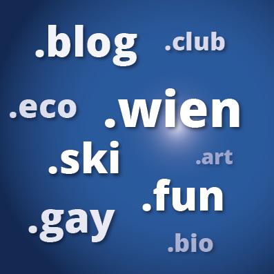 Neue Domaniendungen Web Mausblau