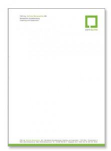 corporate design: briefpapier