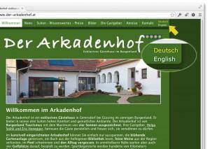 Website Sprache umschalten: deutsch-englisch