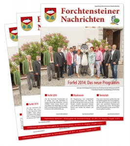Gemeindezeitung Forchtenstein Layout