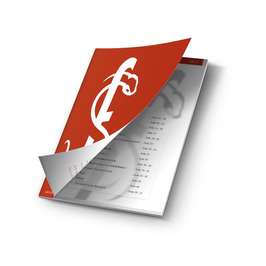 Layout für die Broschüre von Schuhfried Medizintechnik von Mausblau, Burgenland