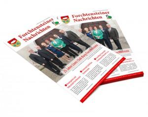 Gemeindezeitung: Produktion, Layout von Mausblau, Burgenland