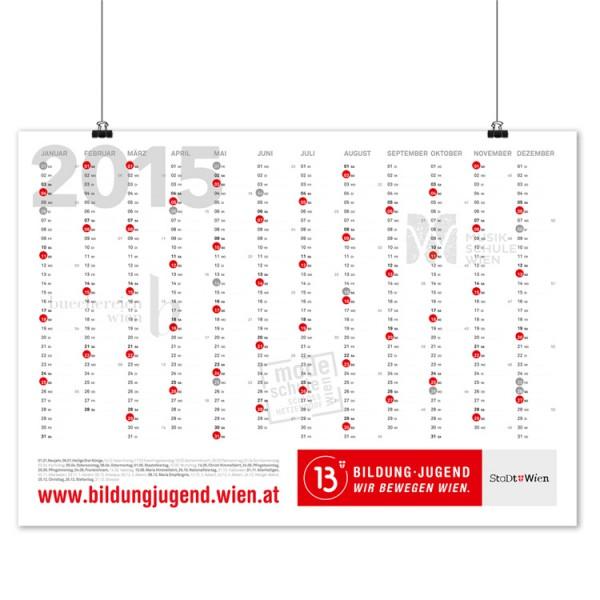 Jahresplaner (Wandkalender): Grafikdesign Burgenland