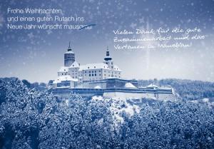 Weihnachtsgrüße Werbeagentur Burgenland, Mausblau