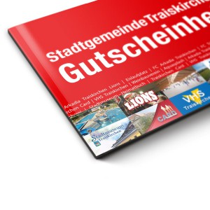 Gutscheinheft Traiskirchen: Grafik und Layout