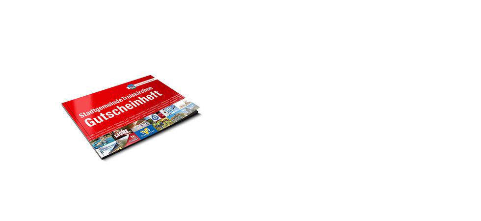 Gutscheinheft für Traiskirchen: Layout und Grafik