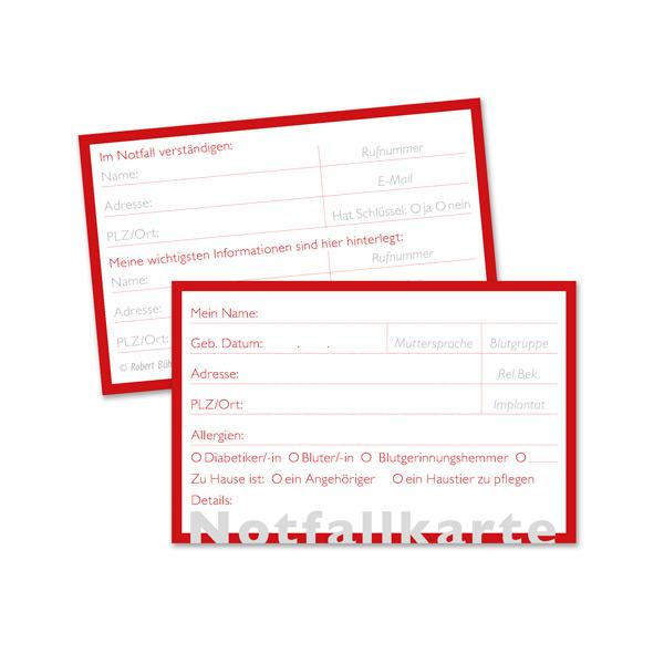 Layout Grafikdesign für Notfallkarte