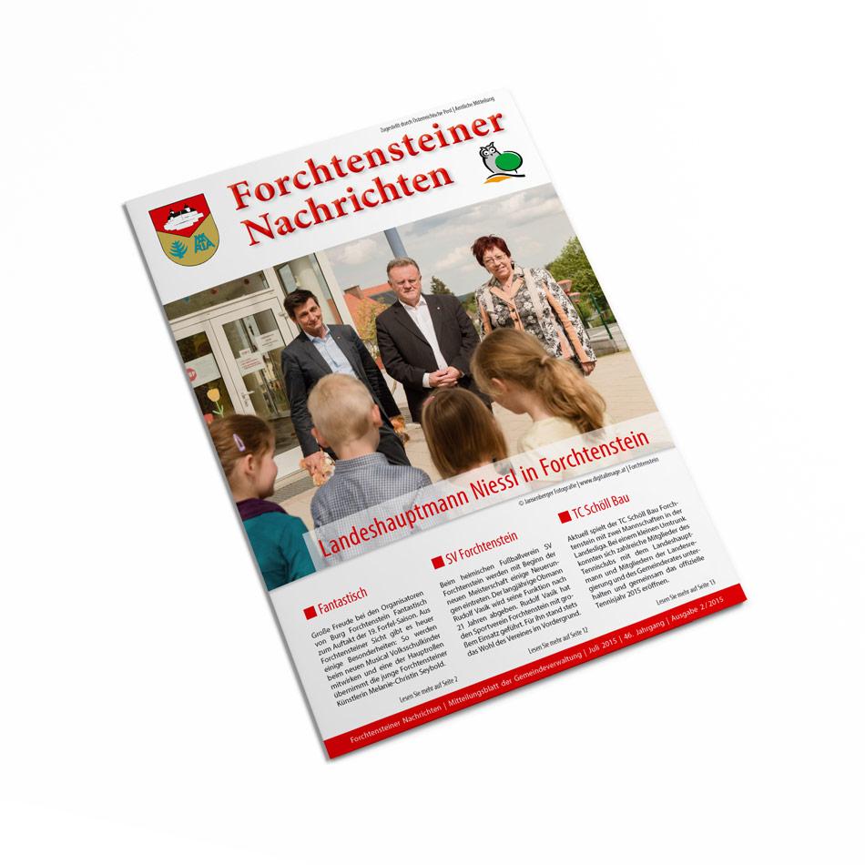 Broschüre, Zeitung: Layout, Burgenland