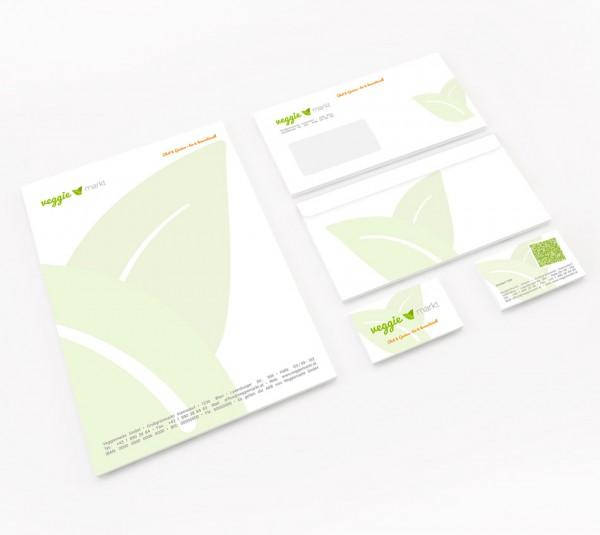 Corporate Design: Drucksorten für Veggiemarkt