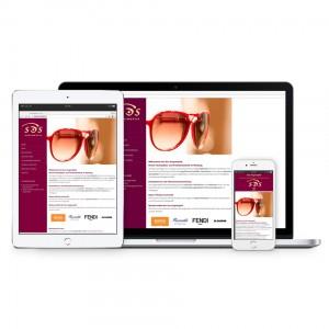 Optiker, Responsive Homepage mit CMS