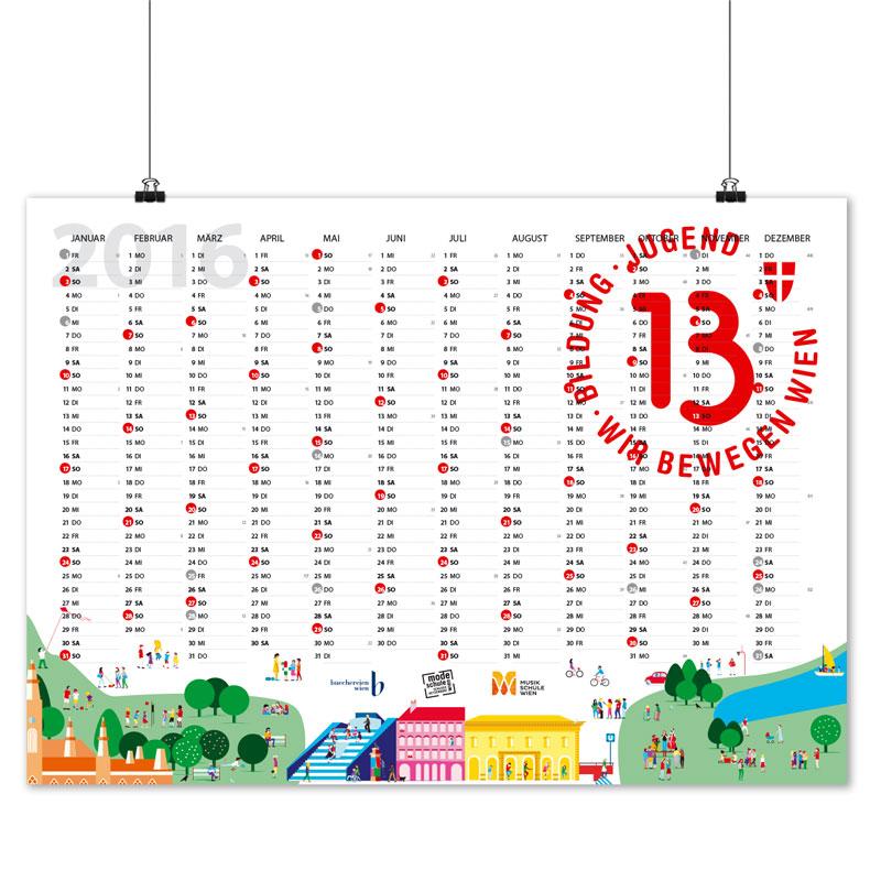 Jahresplaner 2016 (Wandkalender): Grafikdesign Burgenland