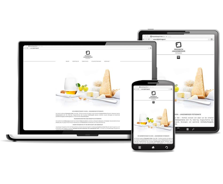 Responsive Webdesign für Fotograf (Burgenland)