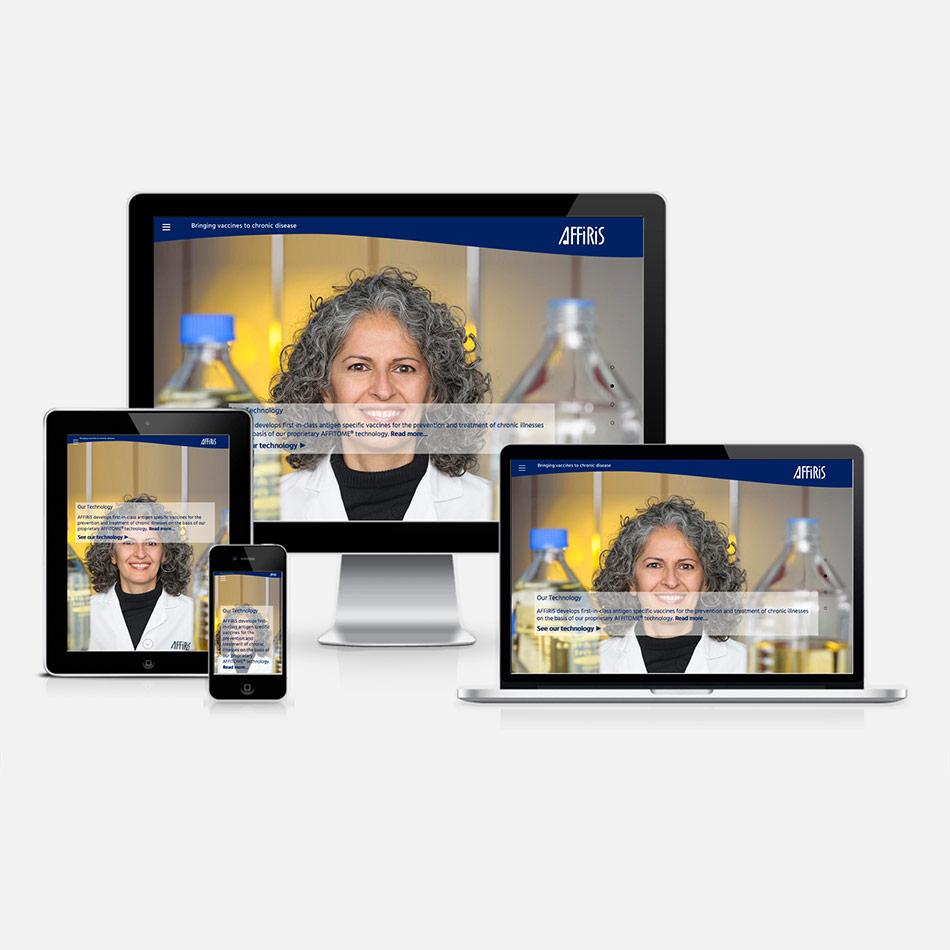 One Page Webdesign aus dem Burgenland für Affiris