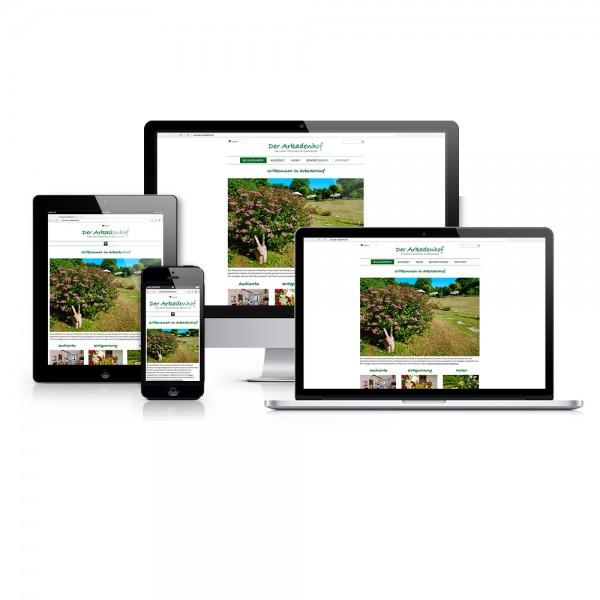 Responsive Webdesign, Burgenland: Die Homepage von Der Arkadenhof ist jetzt Mobile Friendly