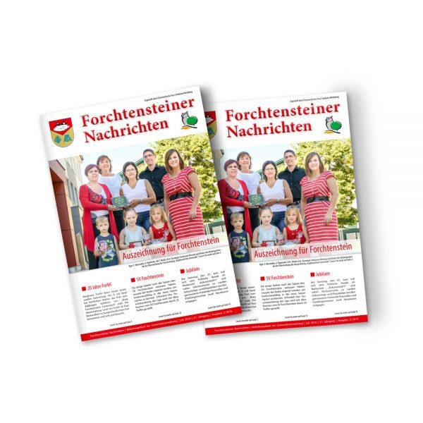 Bild zum Artikel Die Sommerausgabe 2016 der Gemeindezeitung Forchtenstein
