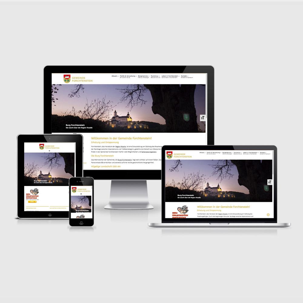 Bild zum Artikel Gemeinde Forchtenstein: Neue Homepage von Mausblau