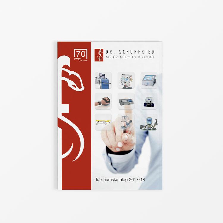 Bild zum Artikel Katalog - Layout für Schuhfried Medizintechnik GMBH