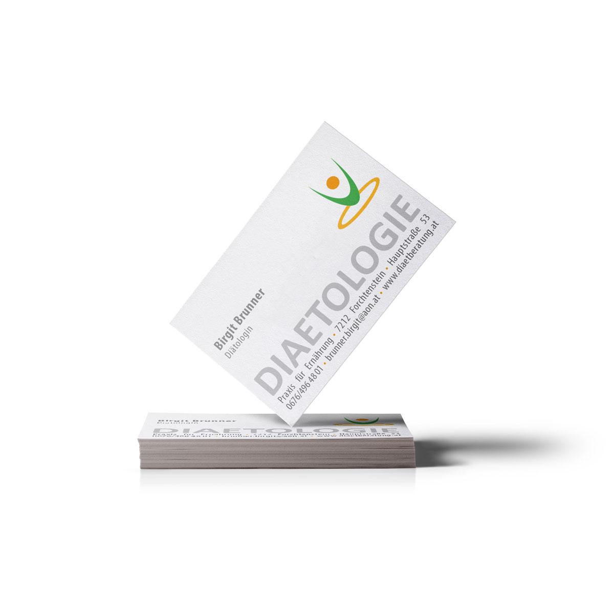 Visitenkarte, Design und Drucksorte, Burgenland