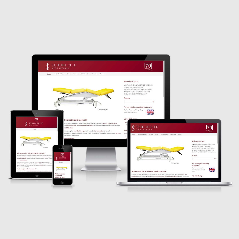 Bild zum Artikel Webdesign-Relaunch für Schuhfried Medizintechnik