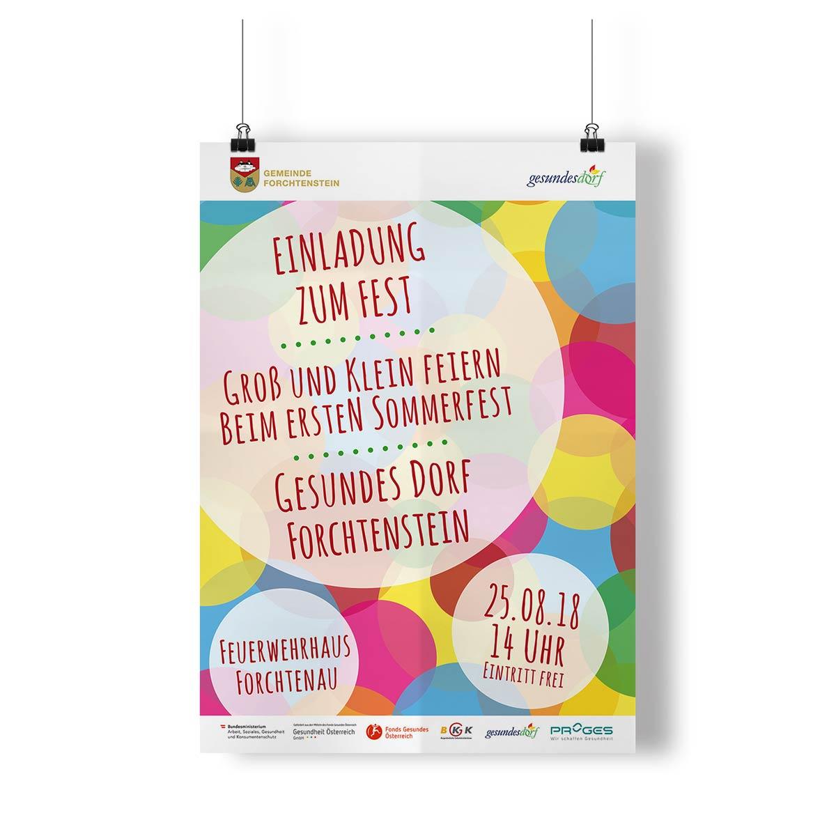 Bild zum Artikel Flyer und Plakat für Gesundes Dorf Forchtenstein
