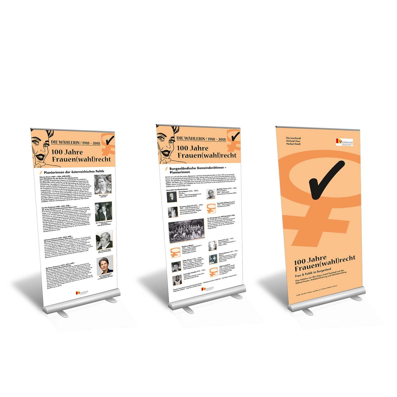 Frauenwahlrecht-Burgenland-Ausstellung-Rollup