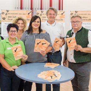 Frauenwahlrecht-Burgenland-Ausstellung-Eröffnung-Landesrätin Eisenkopf-