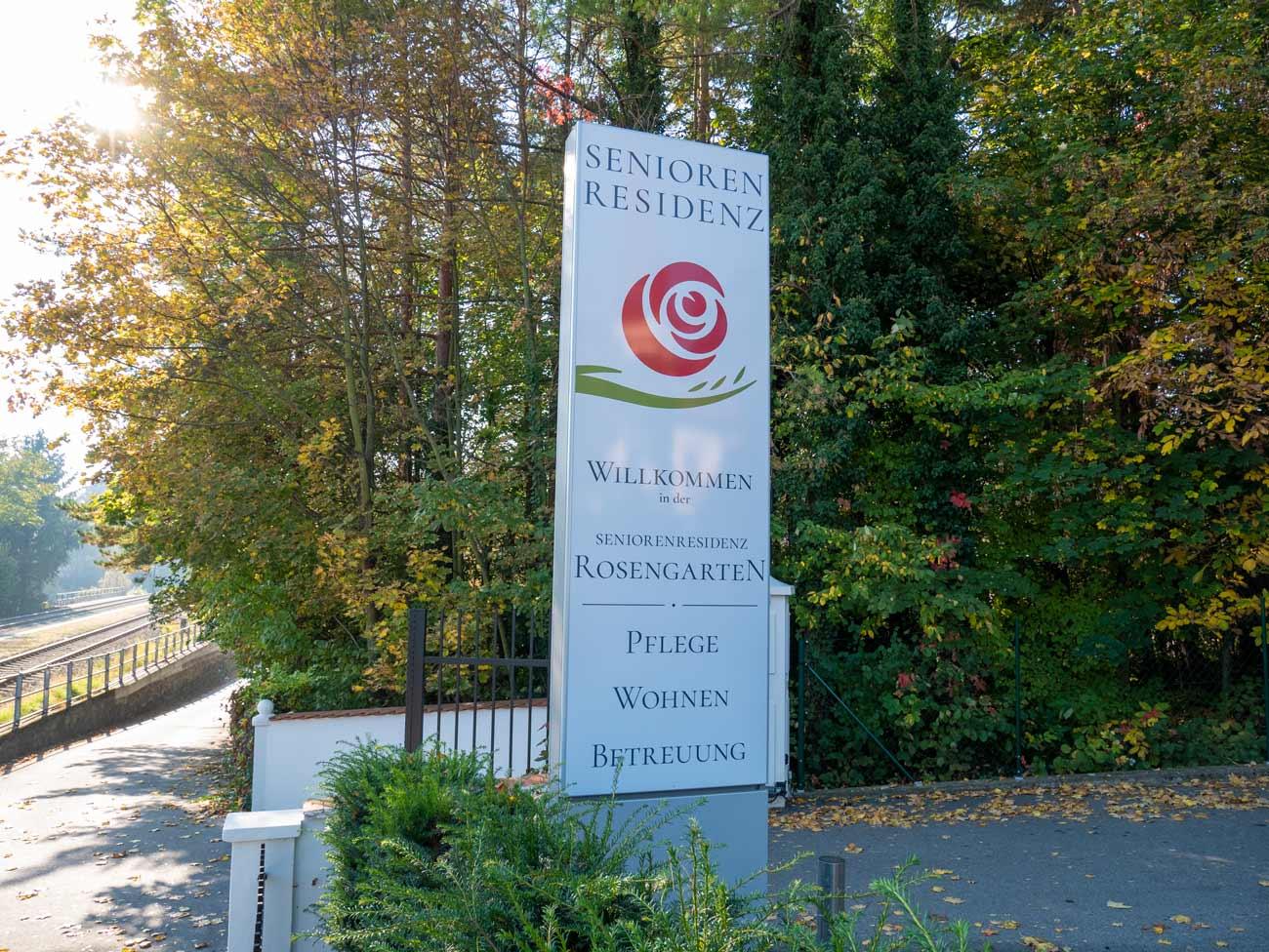 Logodesign Burgenland für die Seniorenresidenz Rosengarten