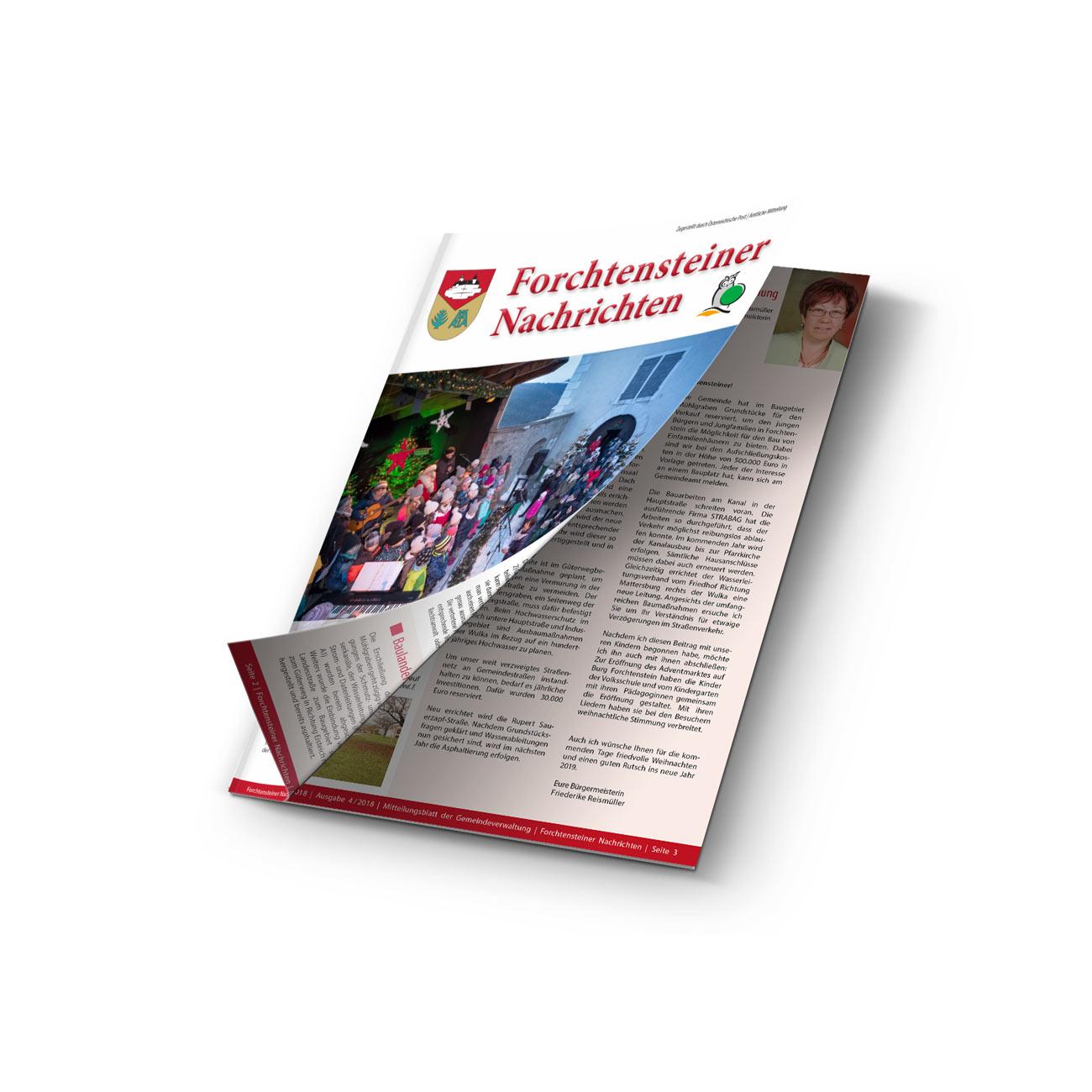 Bild zum Artikel Regelmäßige Produktion der Gemeindezeitung Forchtenstein