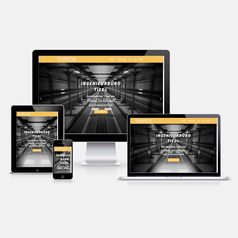 Bild zum Artikel Responsive Webdesign für Ing. Tiedl, Burgenland