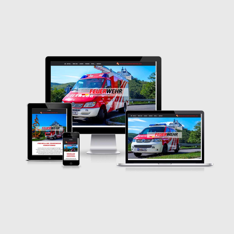 Bild zum Artikel Homepage für die Freiwillige Feuerwehr Forchtenau